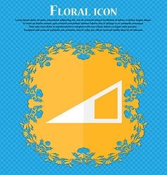 Speaker Volume icon sign Floral flat design on a vector