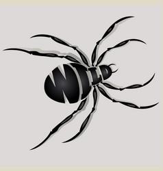 Spider font composition vector