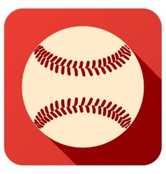 Sport icon with baseball ball in flat style vector