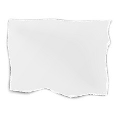 Square tattered paper wisp isolated on white vector