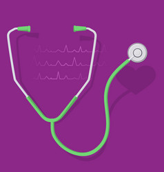 Stethoscope and heart 2 vector
