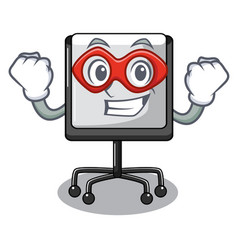 super hero presentation board character in table vector image