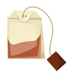 Tea bag food adversting icon vector