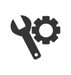 tool gear spanner isolated vector image