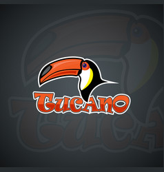 Toucan set template graphics vector