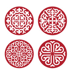 Traditional ornament of asian nomads vector