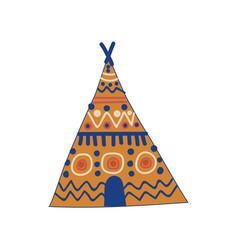 Tribal teepee tent boho style design element vector