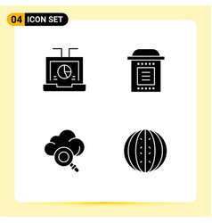 Universal icon symbols group 4 modern solid vector