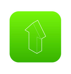 up arrow icon green vector image