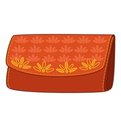 wallet with a floral pattern vector image