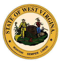 West virginia state seal vector