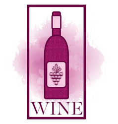 wine bottle symbol vector image