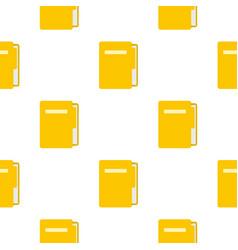 Yellow file folder pattern seamless vector