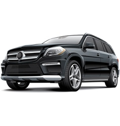 Germany full size luxury SUV vector image vector image