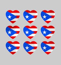 heart with puerto rico flag i love puerto rico vector image