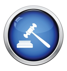 Judge hammer icon vector image