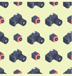 photo camera isometric seamless pattern vector image