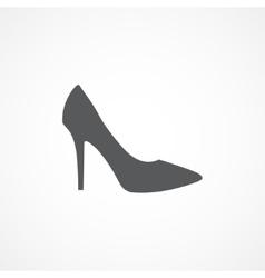 Woman shoe icon vector image