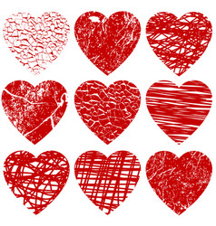 a set of hearts for valentine day vector image vector image