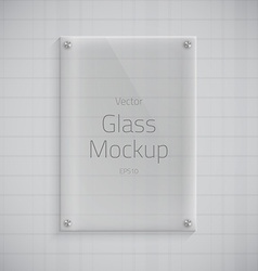 Glass Plate Mockup Background vector image vector image