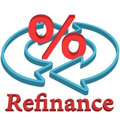 Refinance home mortgage loan vector image