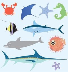 Sea set vector image vector image