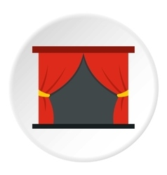 Stage curtains icon flat style vector image