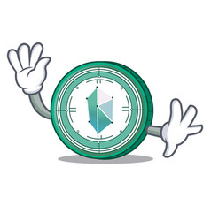 waving kyber network character cartoon vector image vector image