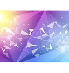 Abstract polygon geometric background and vector image vector image