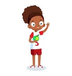 African American school girl cartoon vector image vector image