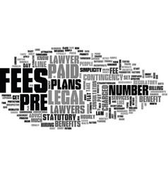 benefits of prepaid legal plans text word cloud vector image