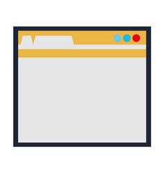 Computer interface icon vector