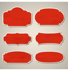 Crumpled paper frames vector image vector image