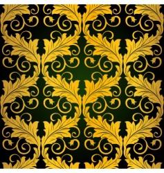 gold seamless wallpaper vector image vector image