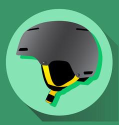 grey ski helmet vector image vector image