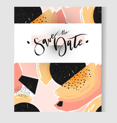 hand drawn abstract textured geometric save vector image