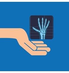 Hands x-ray hand medicine icon vector