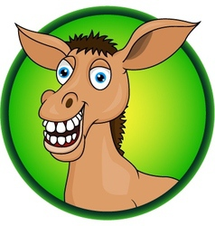 Horse or donkey cartoon vector image vector image