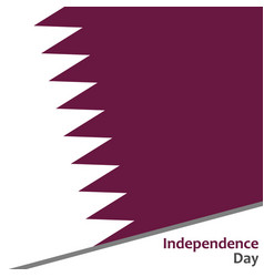 qatar independence day vector image