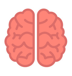 brain flat icon brainstorm and idea medical vector image