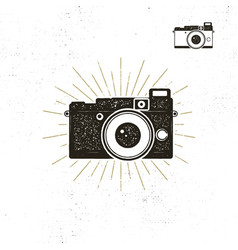 camera icon silhouette vector image