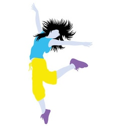 Color of Modern Dance Activity Silhouette vector image