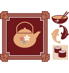 Oriental - Japanese - Food Icons vector image vector image