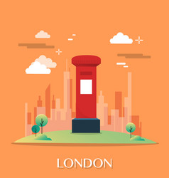 Red post office in london design vector