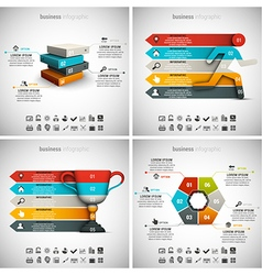 4 in 1 Infographic Bundle vector