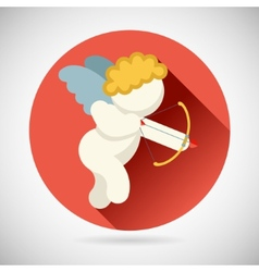 angel love cherub symbol baboy with a bow vector image