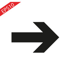 arrow icon in trendy flat style isolated on vector image