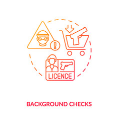 Background check red gradient concept icon vector