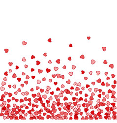 Background of random falling hearts vector