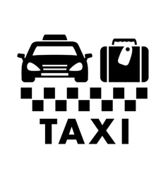 bag and taxi car icon vector image